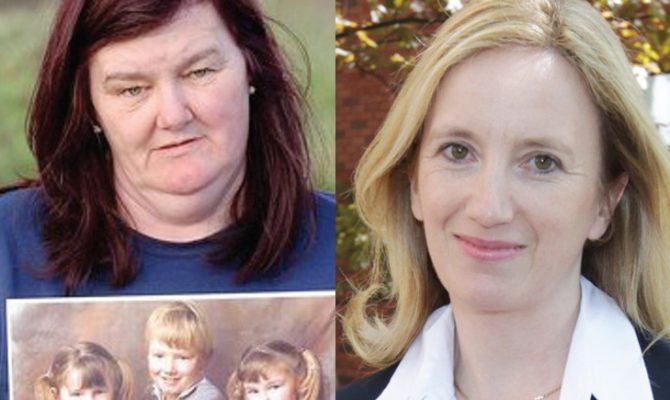 Anne Doherty (left) Gemma O'Doherty (right)
