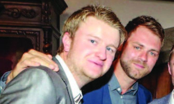 Rudi ButlerMcFadden with Brian