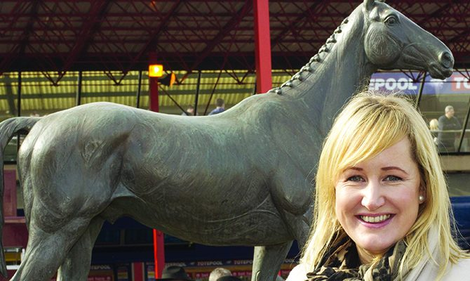 Shona Dreaper from the Punchestown racing festival enjoying day two of the Cheltenham racing festival Pic:Mark Condren 12.3.2014