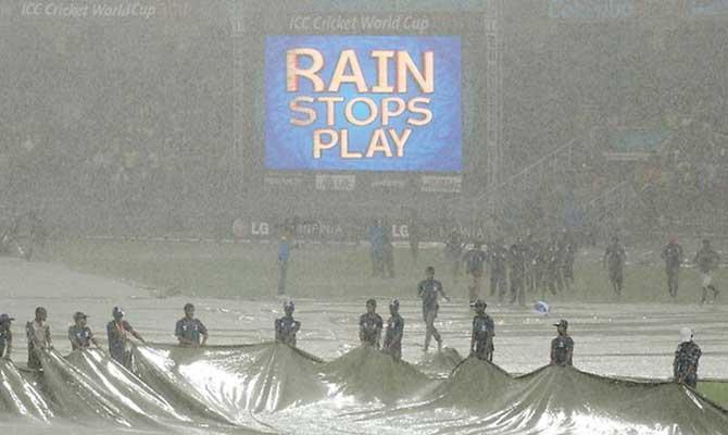 Cricket - Rain stops play