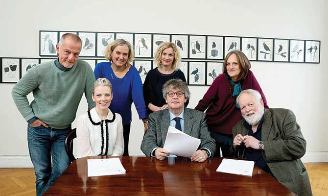 Arts Council director Orlaith McBride with the international selection panel