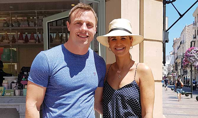 Tommy Bowe and Vogue Williams
