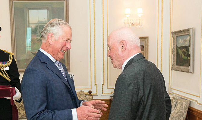 Prince Charles and Paul Smithwick