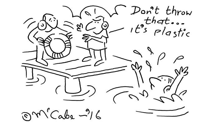 McCabe - Dont throw plastic