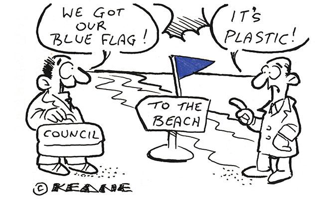 Keane - Blue flag plastic