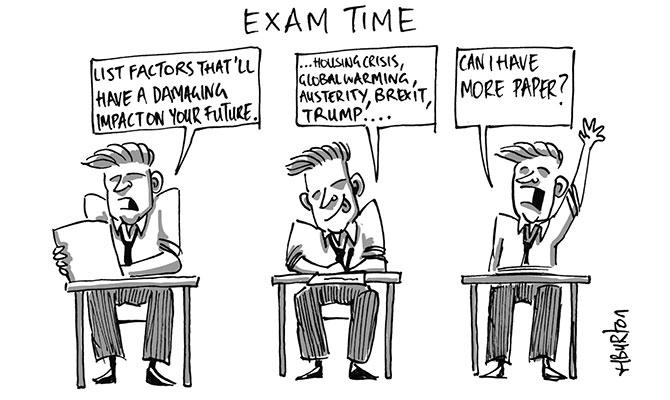 Harry Burton - exam time