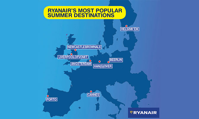 Ryanair summer destinations