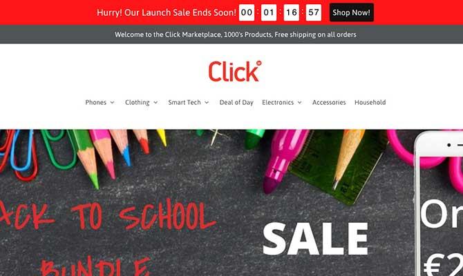 Click.ie website