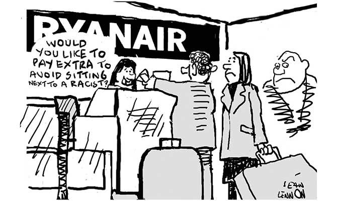Lennon - Ryanair racists