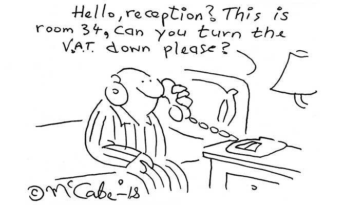 McCabe - VAT down please