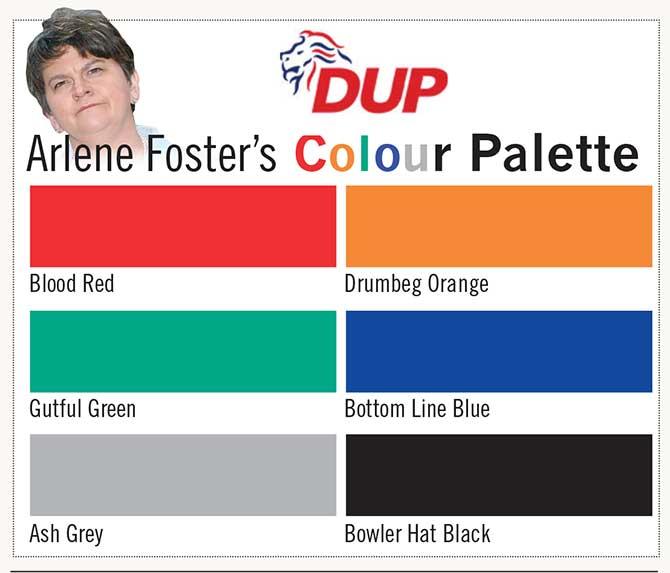 DUP colour palette