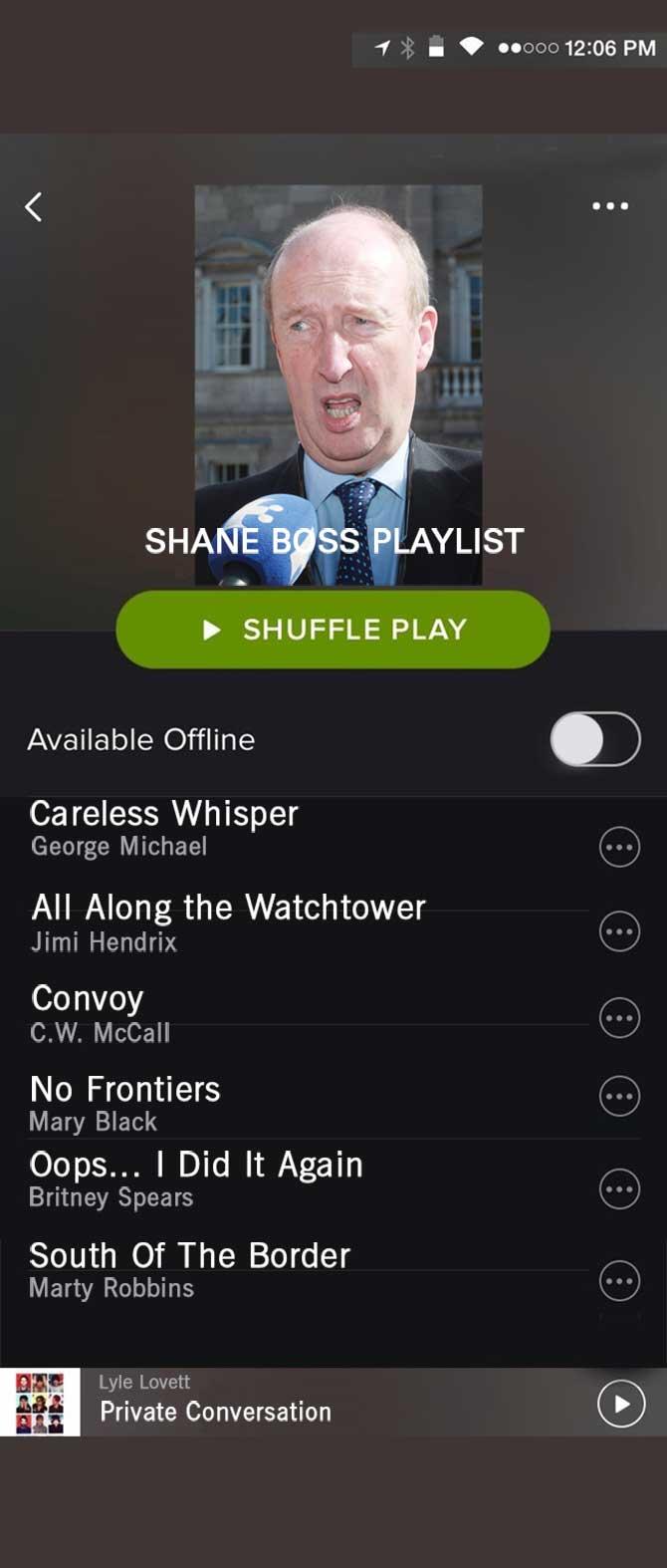 Spotify Shane Boss