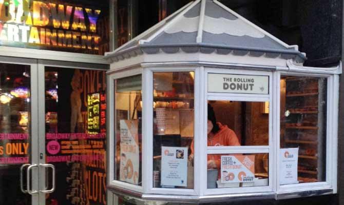 Rolling Donut kiosk