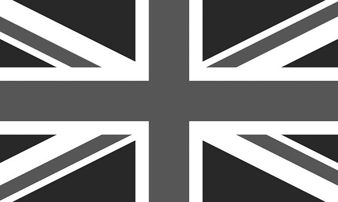 Union Jack black white