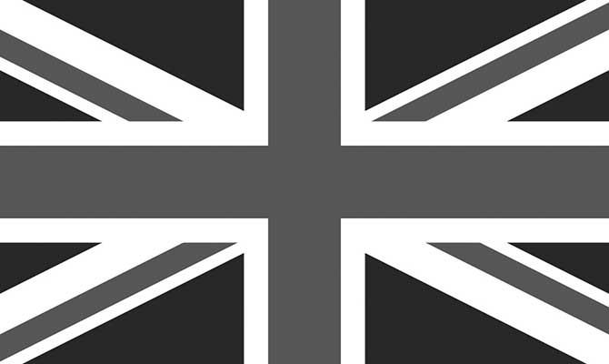 Union Jack black white