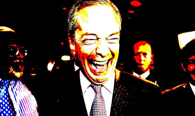 Nigel Farage stoned