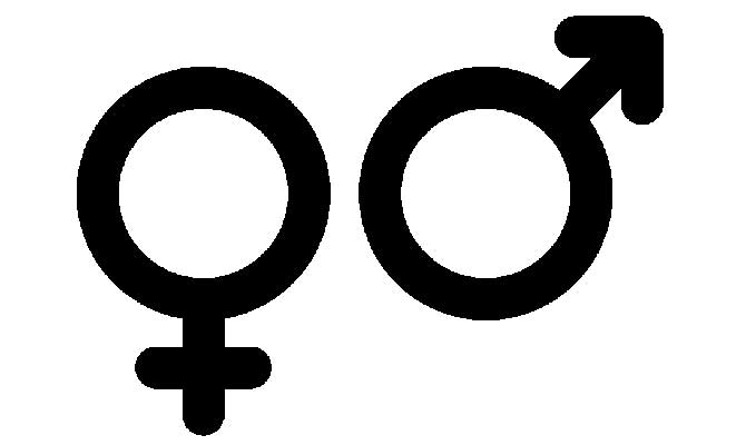 male and female sign gender