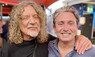 Brendan Morrissey (right) with Robert Plant