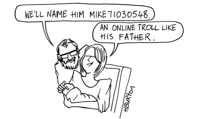 Harry Burton - Online troll