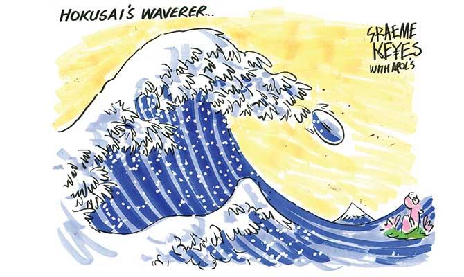 Keyes - Hokusai's Waverer