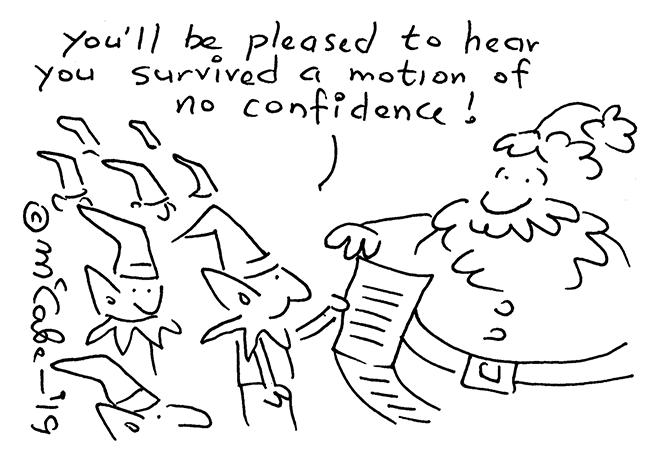 McCabe - No confidence