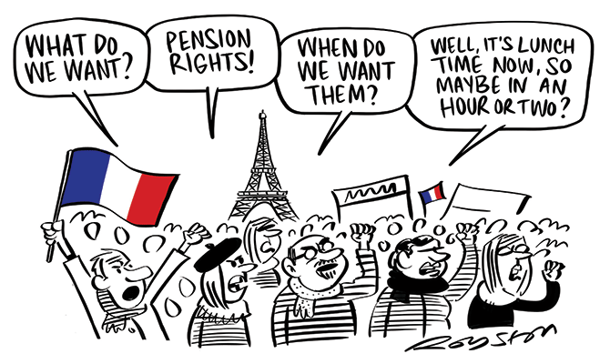 Royston - French protests