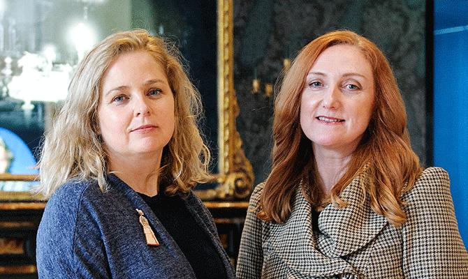 Eithne O'Halloran and Joanne Smyth