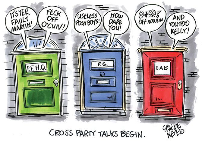 Keyes - Cross party talks