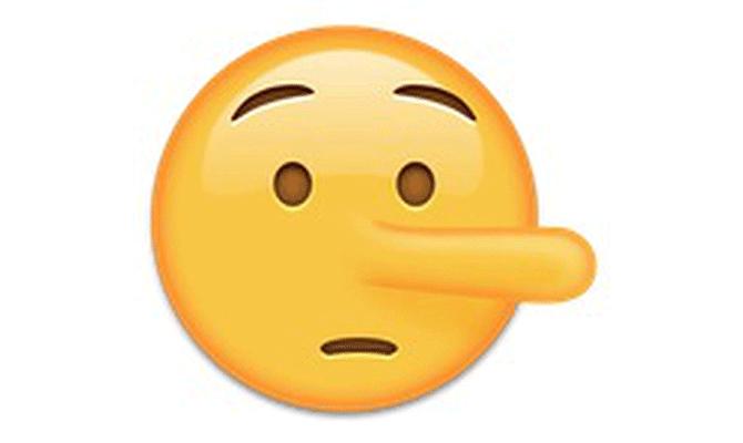 lying face
