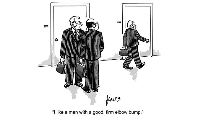 Kales - Firm elbow bump