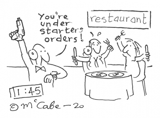 McCabe - Starters orders