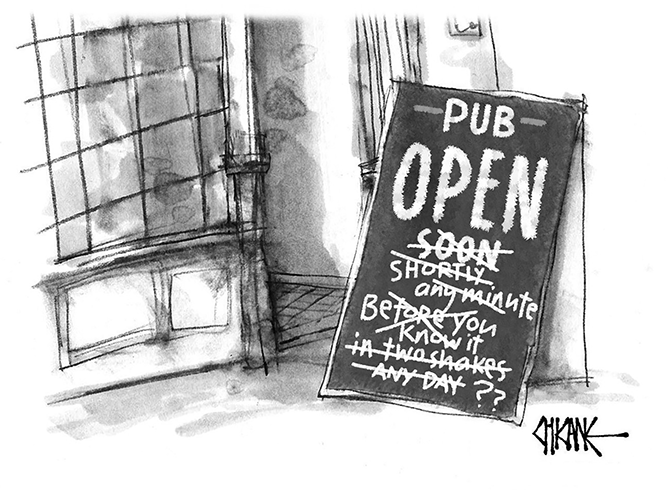 Mark Winter - Pub open