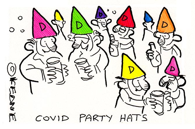 Keane - Covid party hats