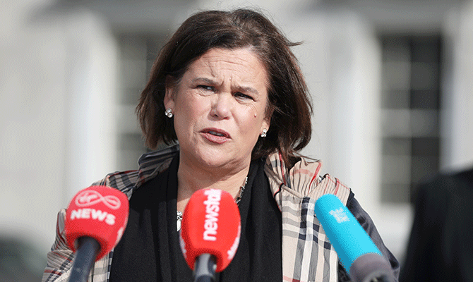 Mary Lou McDonald is managing to stick clearly to a well-thought-out line on Covid and the economic support necessary.