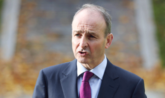 Micheál Martin announced that sharing the island of Ireland, rather than reuniting it, was his goal.