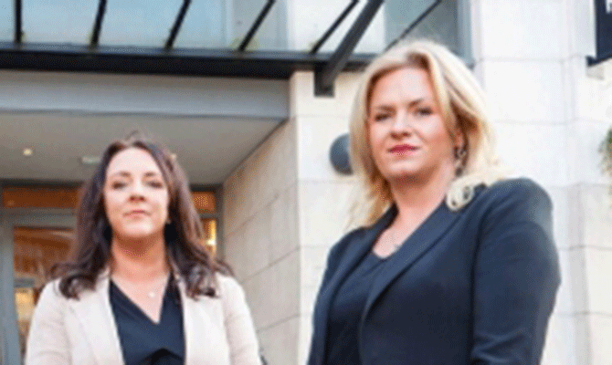 Sheila O'Riordan and Nina Gillett