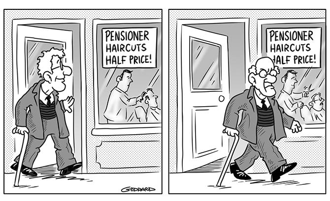Clive Goddard - Pensioner haircuts