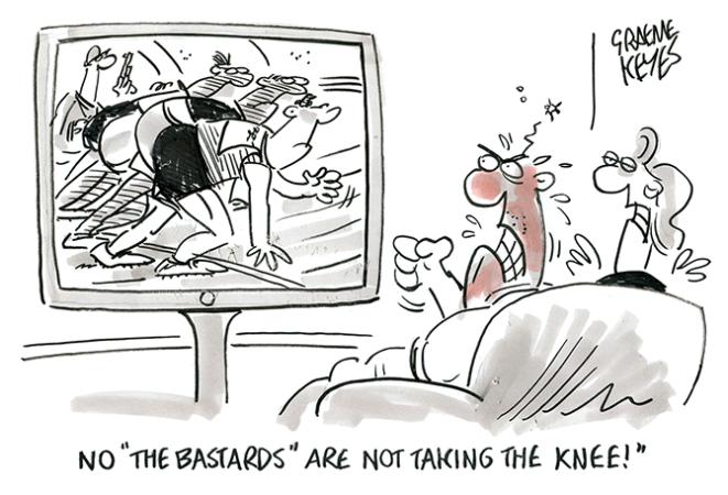 Keyes - taking the knee