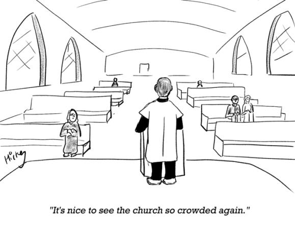 Hickey - Church crowded